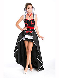 Queen Fairytale Festival/Holiday Halloween Costumes Red White Black Solid Dress BeltHalloween Christmas Carnival Children's Day New Year