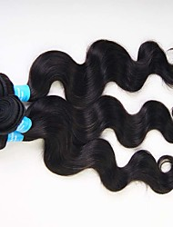 3 Pièces Ondulation naturelle Tissages de cheveux humains Cheveux Péruviens 0.3kg 8-30 inch Extensions de cheveux humains