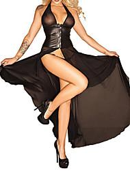 Women Robes / Ultra Sexy Nightwear Solid Organza / Polyester / Spandex Black Women's