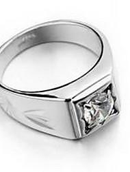 Ringe Kubikzirkonia Party / Alltag / Normal Schmuck Aleación Herren Ring 1 Stück,Eine Größe Silber