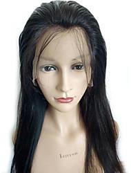 não transformados 8-26 polegadas 130% de densidade peruca dianteira 13 * 6 rendas virgem brasileira cor natural peruca de cabelo humano