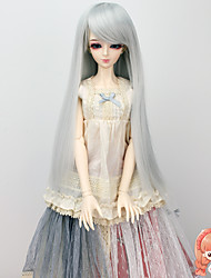Long Straight Silvery Grey Color Hair Wigs 1/3 1/4 Bjd SD DZ MSD Doll Wig Accessories Not for Human Adult
