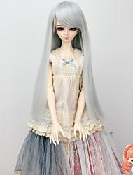 longs cheveux raides de couleur gris argenté perruques 1/3 1/4 accessoires bjd sd dz msd poupée perruque pas pour adulte humain