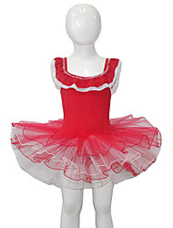 Ballet Dresses Women's / Children's Performance Cotton / Tulle / Lycra Ruffles / Splicing / Color Block 1 Piece Sleeveless Tutus
