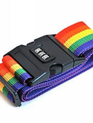 хорошее качество цвета радуги регулируемый багаж чемодан полоса ремень с привязывать блокировки паролем в качестве дорожного чемодана