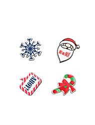 moda bonito conjunto broche de elementos do Natal