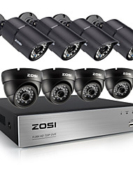 ZOSI®8CH 720P CCTV DVR 8PCS 1.0MP Security Camera System with 1TB HDD
