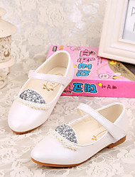 Girl's Flats Comfort PU Casual Blue Pink White