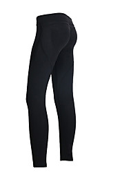 Yoga Pants Tights Breathable / Comfortable Natural Stretchy Sports Wear Black Women's Sports Yoga / Pilates