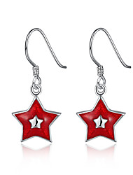 Women Christmas Gift Pentagram Eardrop Ear Hook Earrings