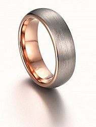 Men's Band Rings Ring Jewelry Rose Gold Tungsten Steel Circle Jewelry For Daily Casual Sports