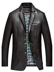 Winter Leather Jacket Long Sleeve PU