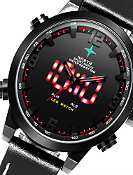 Watch Men Military Watch LED Noctilucent Sport Digital Watch Waterproof Leather Band Watch Wristwatch Montre Homme