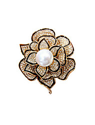 High-grade fashion pearl brooch suit pins decoration perfect gift for young women to attend the party