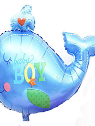 Balloons Holiday Supplies Fish Aluminium Blue / Pink For Boys / For Girls 5 to 7 Years / 8 to 13 Years