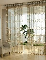 Un Panneau Le traitement de fenêtre Européen , Fleur Salle de séjour Mélange Poly/Coton Matériel Sheer Rideaux ShadesDécoration