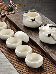 1Sets(1 The Teapot Tea Sea 1 6 Cups) Slap-Up Atmospheric Family Entertainment Glass Tea set Seven-Piece Cup Teapot
