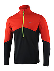 ARSUXEO® Men's Long Sleeve Running Tops Thermal / Warm Reflective Strips Four-way Stretch Sweat-wicking Soft Spring Fall/Autumn Winter