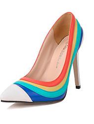 Damen-High Heels-Kleid-Kunstleder-StöckelabsatzWeiß