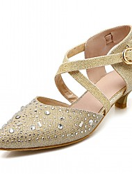 Women's Heels Spring Fall Others Leatherette Office & Career Dress Casual Low Heel Silver Gold Others