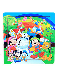 Puzzles Building Blocks DIY Toys 20 Bois Arc-en-ciel