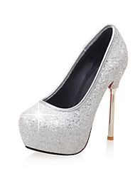Women's Heels Spring Summer Fall Platform Comfort Glitter Wedding Dress Party & Evening Stiletto Heel Platform Sparkling GlitterBlack