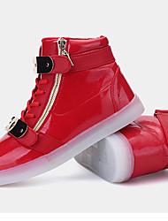 Unisexe-Extérieure Décontracté Sport-Bleu Rouge-Talon Plat-Confort Nouveauté-Chaussures d'Athlétisme-Microfibre