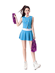 Women Sexy Football Cheerleader Uniform High School All Star Super Bowl World CupCheering Squad Costumes Solid Top / Skirt / Handball