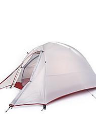 NatureHike® 1 personne Tente Double Une pièce Tente de camping >3000mm Aluminium Silicone ToileRespirabilité Séchage rapide Etanche