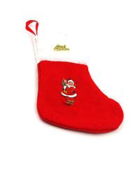 Рождественский декор Товары для Рождественской вечеринки Товары для отпуска 6Pcs Рождество Текстиль Серебристый