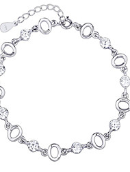Women's Chain Bracelet Crystal Sterling Silver Sliver Jewelry 1pc