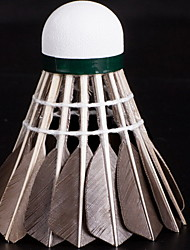1 Piece Badminton Feather Shuttlecocks Shuttlecocks Low Windage High Strength High Elasticity Durable for Goose Feather