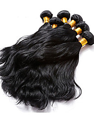 "3 Pcs Lot 12""-30"" Brazilian Natural Wave Virgin Hair Wefts Jet Black Remy Human Hair Weave Tangle Free"