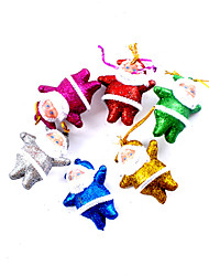Christmas Decorations /Christmas Party Supplies / Christmas Tree Ornaments Holiday Supplies Santa Suits Plastic  /5Packs