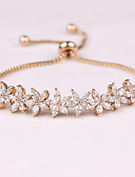 Women's Chain Bracelet Crystal Zircon Cubic Zirconia Fashion Star Silver Golden Rose Gold Jewelry 1pc