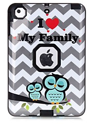 Owl Family Pattern Colour Printing Water/Dirt/Shock Proof Waterproof Three in One IMD Cover Case for iPad mini 1/2/3