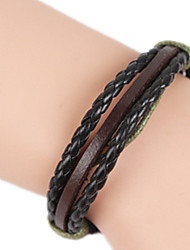 Bracelet Bracelets Rigides Alliage / Cuir Autres Fait à la main Anniversaire / Quotidien Bijoux Cadeau Noir,1pc