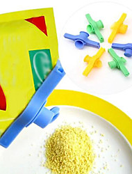 Seal Round Mouth Plastic Food Clips(Random Color)