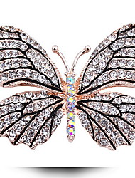 Fashion Woman Alloy Butterfly Brooch