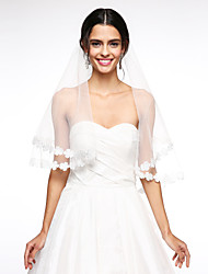 Wedding Veil One-tier Blusher Veils Lace Applique Edge Net