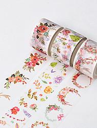 3PCS DIY Decorative Tape Masking Adhesive Tape Scrapbooking Diary Wall Decorative stickers 8M