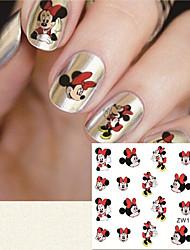 1 Nail Sticker Art Autocollants de transfert de l'eau Maquillage cosmétique Nail Art Design