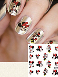 Fashion Printing Pattern Cartoon Transfer Printing Nail Stickers