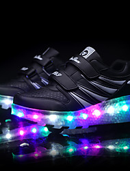 LED Light Up Shoes,Kids Boy's Sneakers Spring / Summer / Fall / Winter Comfort Synthetic Athletic / Casual Flat Heel Black / Pink