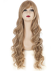 24Women Hair Wig Long Wavy Hair Curly Cosplay Wig Black Friday(Light Brown)