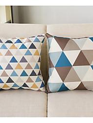 Couples Series Letters Cartoon Cotton Linen Throw Pillow Case Home Decorative Cushion Cover Pillowcase(Contain pillow inner)