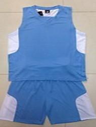 Men's Short Sleeve Basketball Running Sweatshirt Tops Baggy Shorts Breathable Sweat-wicking Comfortable Yellow White Red BlueYellow White