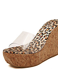 Women's Slippers & Flip-Flops Summer Slingback PVC Casual Wedge Heel Others Brown Yellow Others