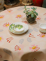 Patterned Table Cloth  Linen Material Table Decoration 1pc/set Orange Flower Buds 3 Size
