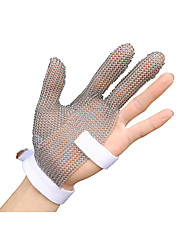 Cut Resistant Stainless Steel Mesh Gloves-Three Finger